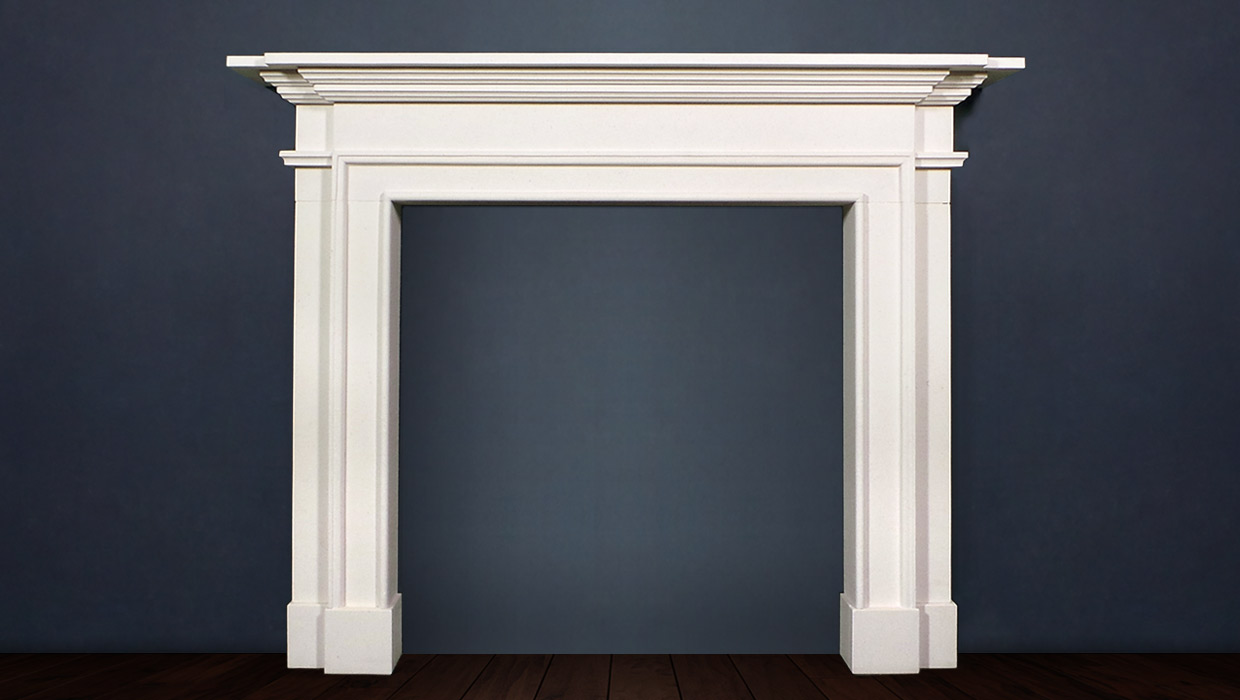 The Sandringham fireplace is based on classical architecture with S-shaped scrolls the crisp detailing and genteel proportions make this a timeless fireplace chimney piece
