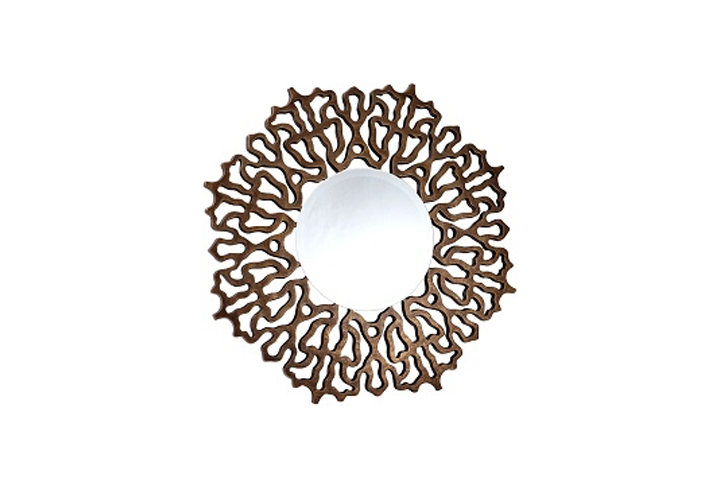 Colmar Bronze Intricate Round Over Mantel Mirror From Buckleys