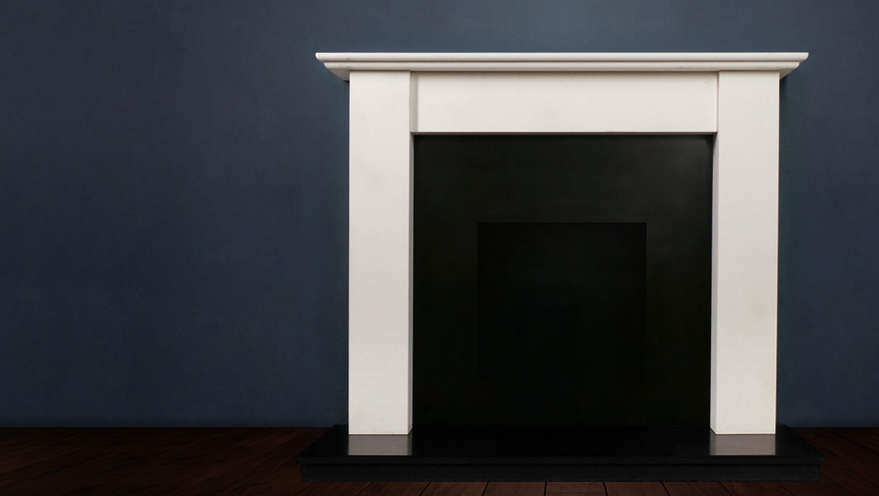 The Merlin is a handmade fireplace in a choice of limestone with strong and stylish proportions that make it the ideal choice for contemporary interiors