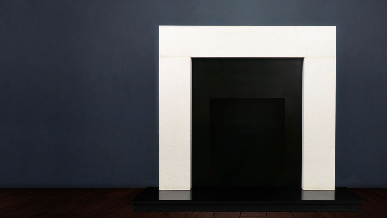 The Modern is an incredibly versatile modern fireplace crafted in limestone or marble which can add effortless style to any room in your home