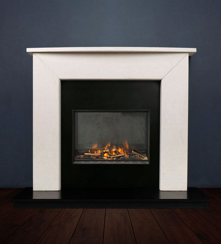 The Modern II fireplace package with Evonic 600F Electric Cassette Fire, remote control. Available form Buckley Fireplaces Dublin, supplied and installed