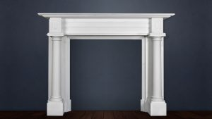Elegant White Stone Fireplace From Buckley Fireplaces