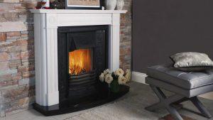 Contemporary Bullseye Fireplace From Buckleys