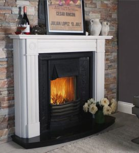 Contemporary Bullseye Fireplace From Buckleys Portrate
