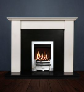 merlin fireplace with Logic HE Gas Fire Remote Control Chrome
