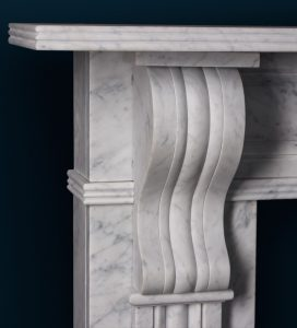 Victorian marble Detail fireplace corbel