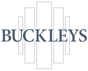 Buckley Fireplaces Logotype with stone pillars