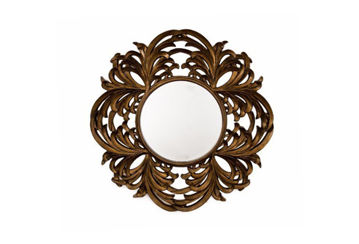 Acanthus round over mantel mirror from buckleys