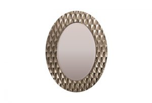 Avila Champagne Silver Finish Over Mantel Mirror by Buckleys