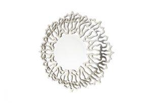 Bailen Distressed Silver Leaf Finish Over Mantel Mirror by Buckleys