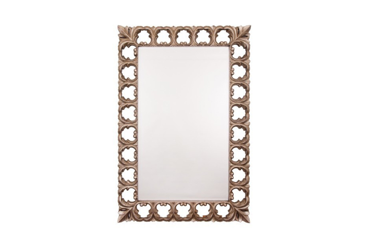 Bianca Champagne Frame Over Mantel Mirror by Buckleys
