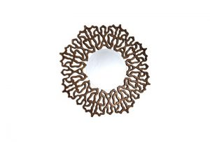 Colmar Bronze Intricate Round Over Mantel Mirror From Buckleys