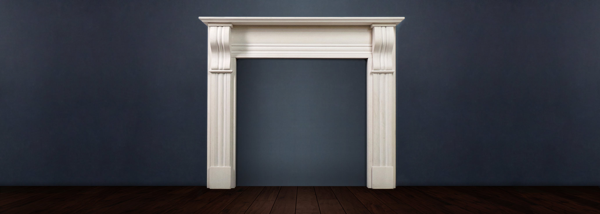 The Dublin Corbel fireplace is based on classical architecture with S-shaped scrolls the crisp detailing and genteel proportions make this a timeless fireplace chimney piece