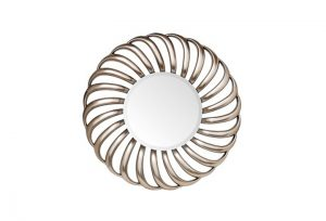 Flyn Champagne Silver Finish Over Mantel Mirror by Buckleys