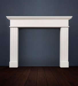 The Granada is a contemporary designed fireplace with fluted legs made in Limestone it is highly versatile and can complement a myriad of design styles
