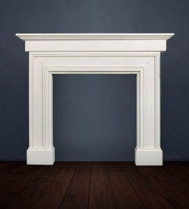 The Madrid Grande fireplace with its imposing extended shelf adds architectural style and interest to your interior décor available in limestone