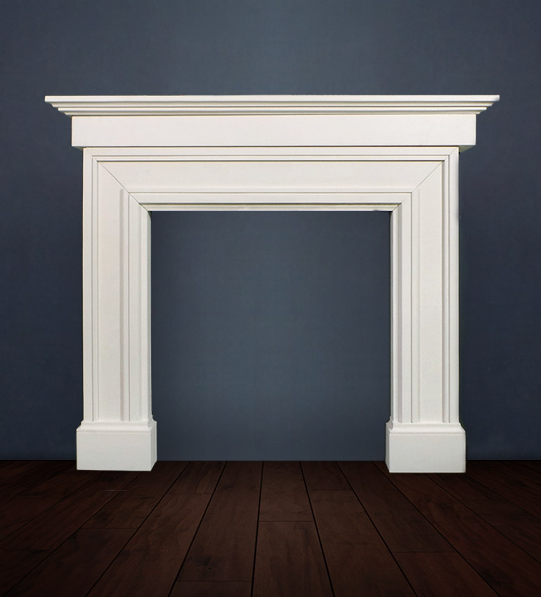 The Madrid Grande fireplace with it's imposing extended shelf adds architectural style and interest to your interior décor available in limestone
