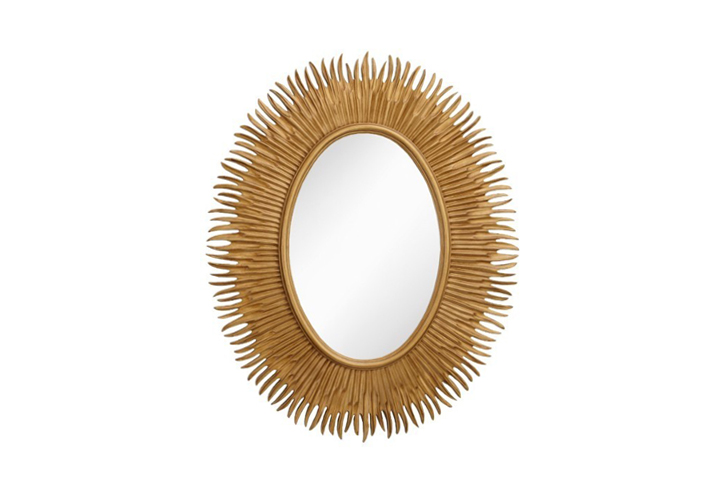 Moher Oval Gold Finish Over Mantel Mirror by Buckleys