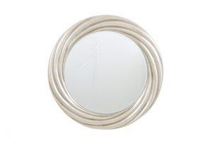 Silver Leaf Round Swirl Over Mantel Mirror by Buckleys