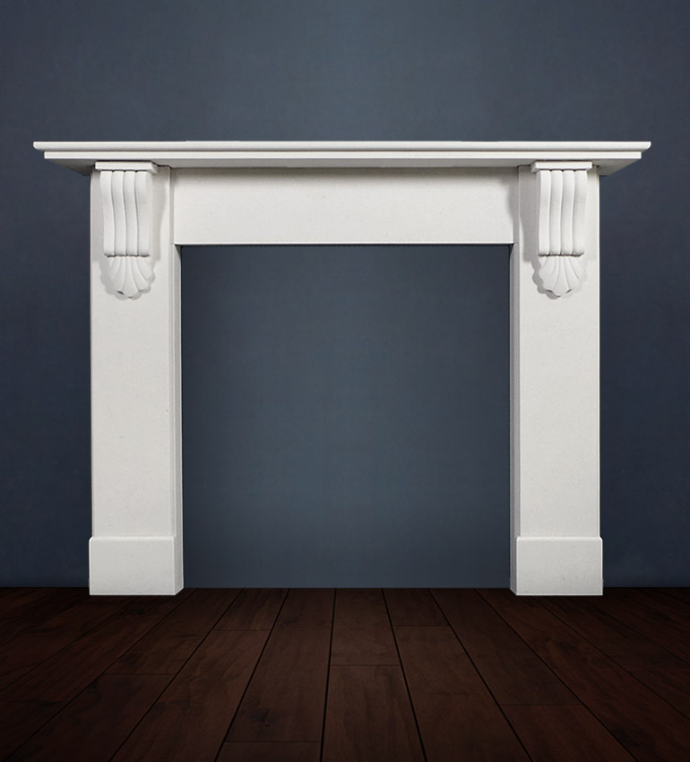 The Victorian Corbel fireplace is A soft scalloped Victorian style fireplace in limestone, this beautiful surround sets off any interior with it's delicate corbel ornamentation