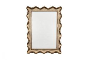 Wavy Silver Antique Scalloped Over Mantel Mirror by Buckleys